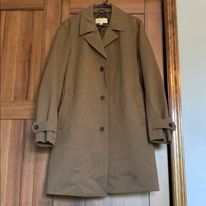 Men's medium brown Michael hors trench coat